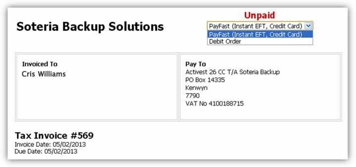 How to pay your invoice via EFT - Payfast - Knowledgebase